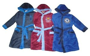 Boys Dressing Gowns West Ham United Tottenham Or Chelsea With Hoods