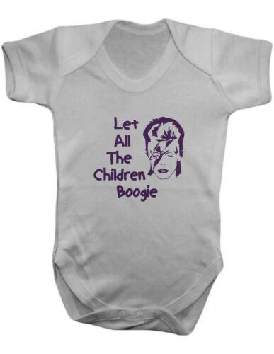 David Bowie Let All The Children Boogie Baby Bodysuit Vest,Romper,100/% Cotton