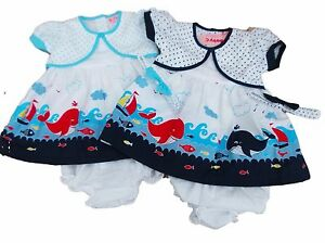 d6cda1a29d06 Details about BNWT Baby girl summer whale dress set Clothes outfit. 6-12m  12-18m 18-24 month