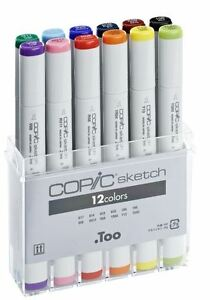 COPIC-SKETCH-MARKER-PENS-12-COLOUR-SET-B-GRAPHIC-ART-MARKERS