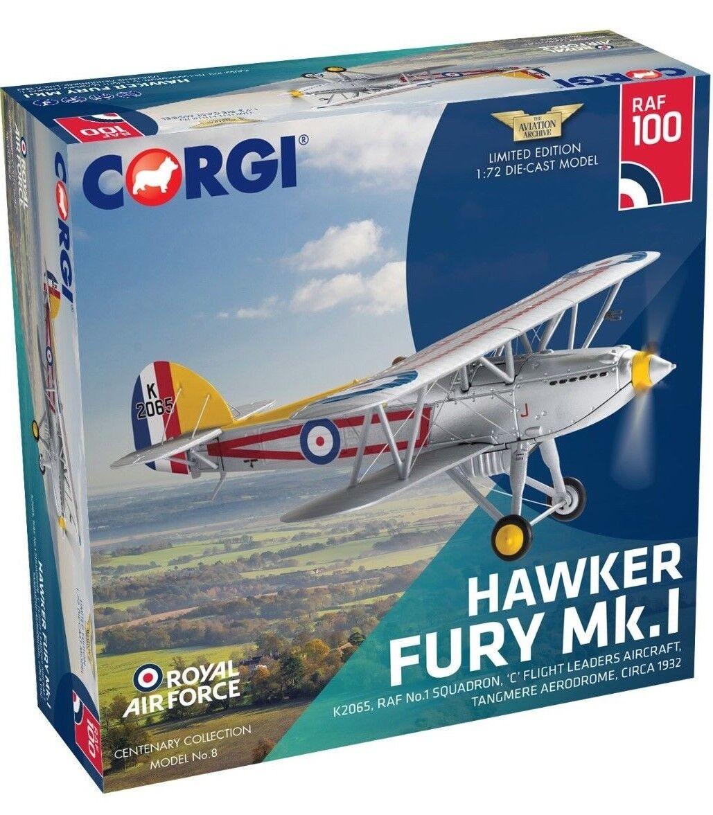 Nouvelle Version CORGI échelle 1 72 hawker fury K2065 RAF No.1 Escadron Diecast modèle.