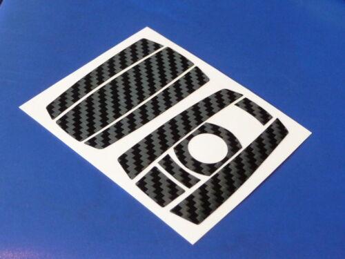 """3d Carbon autocollant pour BMW clé en noir /""""Made in Germany/"""" 01-10"""