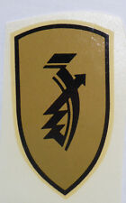 Zündapp Schriftzug Abziehbild Wasserabziehbild 02332Z, 37 x 67 mm,gold/schwarz