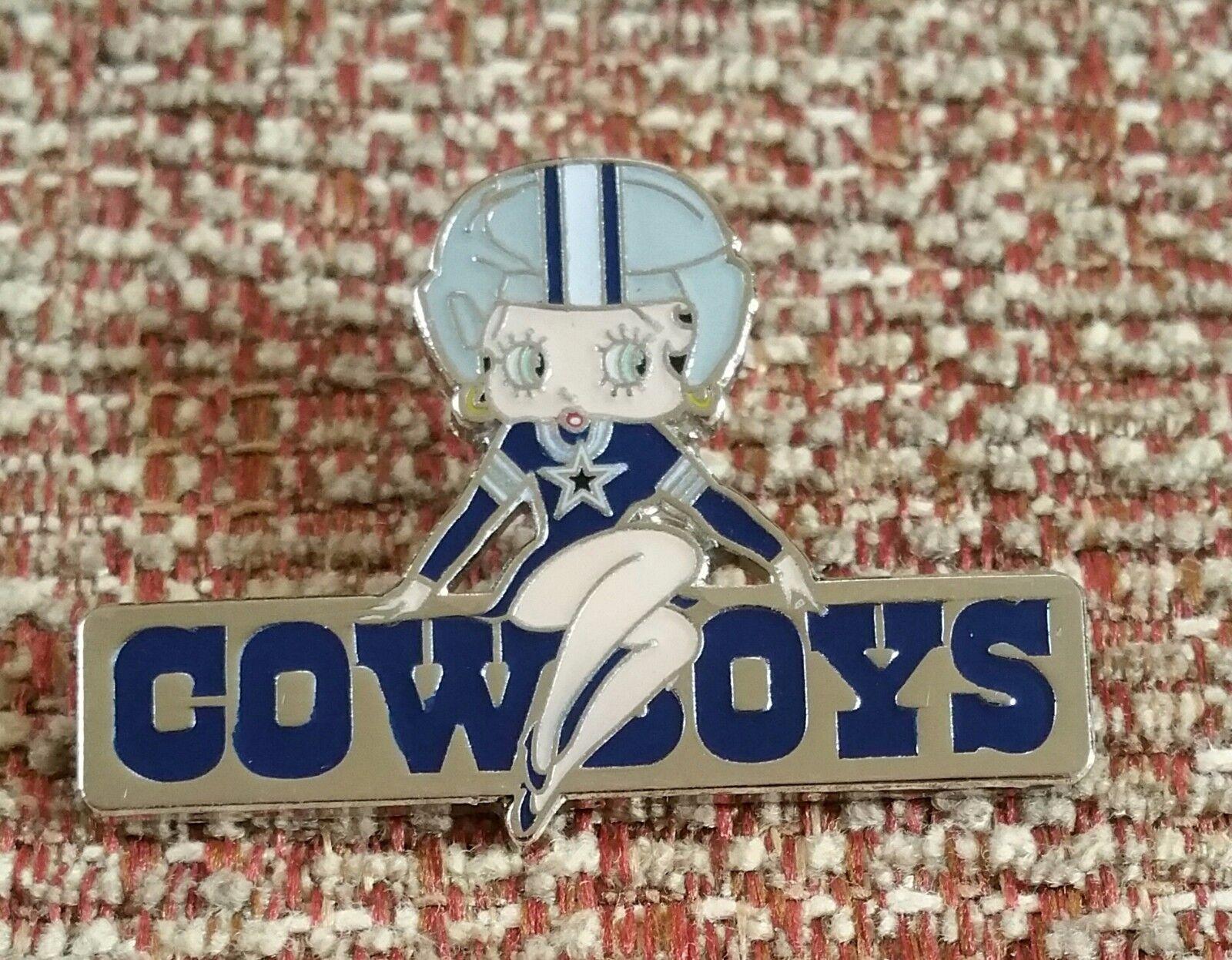 Football nfl fan apparel souvenirs sports mem cards fan shop dallas cowboys betty boop lapel pin kristyandbryce Choice Image