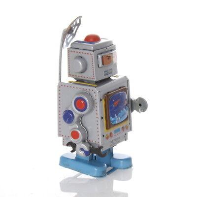 Gehorsam Roboter Mit Tv Und Antenne Aufziehwerk Mechanisches Blechspielzeug