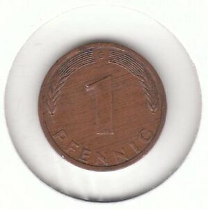 Germany Federal Republic 1978 G 1 Pfennig Copper Plated Steel Coin  Karlsruhe - <span itemprop=availableAtOrFrom>Dukinfield, United Kingdom</span> - Germany Federal Republic 1978 G 1 Pfennig Copper Plated Steel Coin  Karlsruhe - Dukinfield, United Kingdom