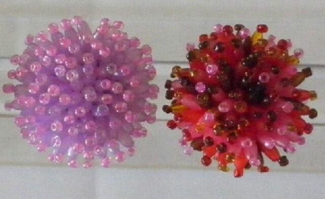 bague fantaisie femme perles rocailles-ovales-multicolores-écrin cadeau de noël
