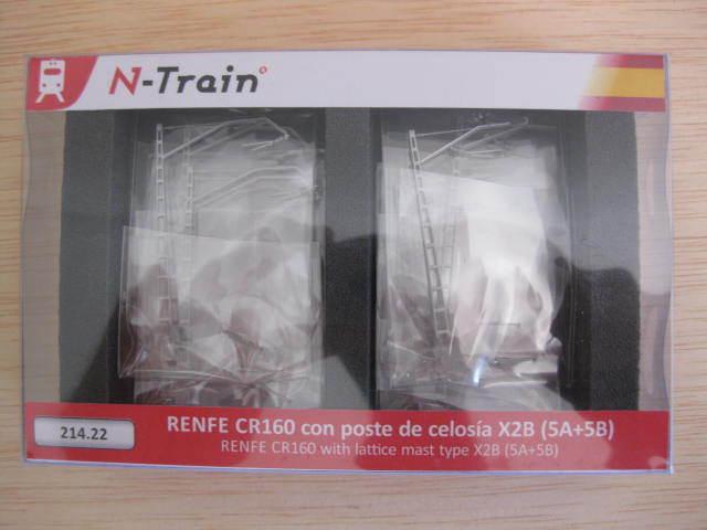 N-train - ref.214.22 - Catenaria Renfe CR160 con poste de celosía X2B  A+B  10ud