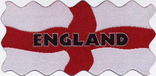 England St George/'s Flag Woven Badge Patch Motif 98mm x 48mm IRON ON