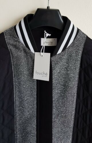 EU Designer Bomber Ladies Jacket Long 12 Taille Touche 40 Prive Rqt18tnI