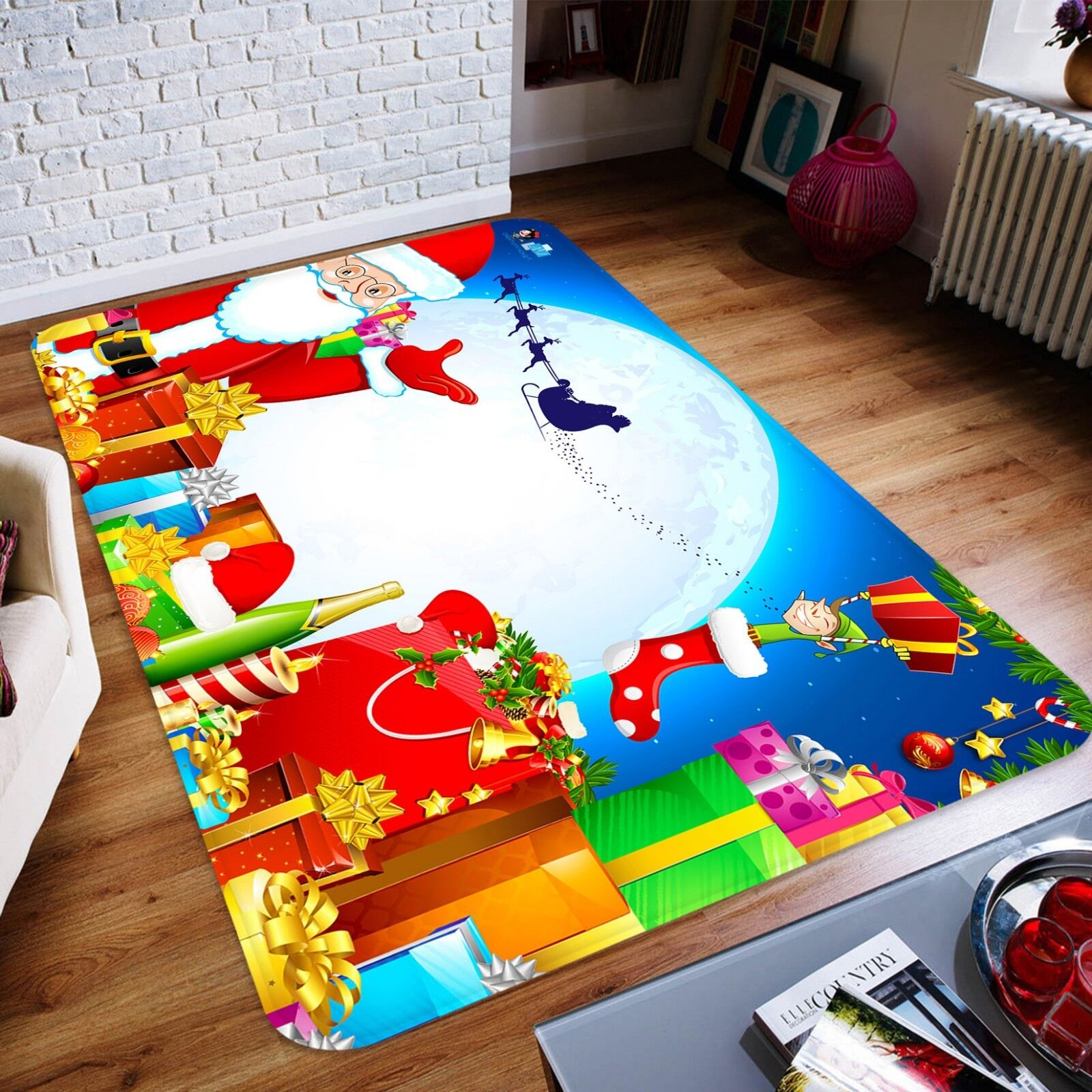 3D Christmas Xmas 960 Non Slip Rug Mat Room Mat Quality Elegant Photo Carpet AU