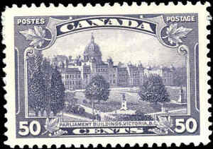 Mint-H-Canada-50c-VF-1935-Scott-226-King-George-V-Pictorial-Stamp