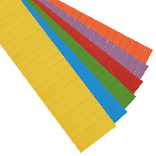 Farbe sortiert Größe 60 x 10 mm Magnetoplan ferrocard-Etiketten