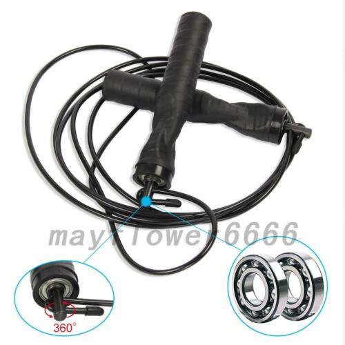 Jump Rope With Adjustable Speed Cable /& Contoured Ball Bearing Handles Boxing US