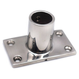 "New Great Boat Stainless Steel Hand Rail Fitting 90 Degree 7//8/"" Rectangular Base"