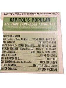 Capital's Popular All Time Tape Deck Favorites 4 Track 71/2 Stereo Reel To Reel