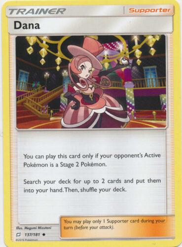 Dana 137//181 Uncommon Trainer Card Pokemon SM TEAM UP Single or Playset x4