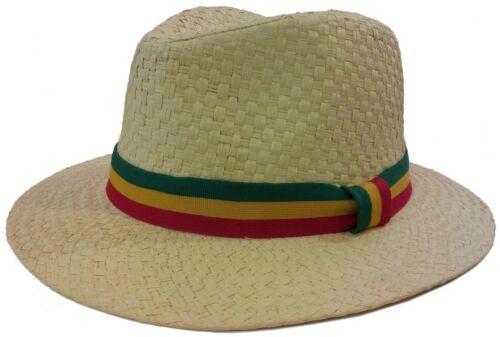RASTA REGGAE CUBAN STYLE FEDORA TRILBY GANGSTER FEDORA PANAMA  HAT MEN CAP