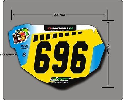 BMX Anti-Shatter Mini Race Plate /& Graphic 6