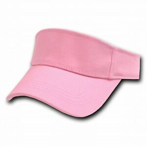 Light Pink Golf Tennis Sports Brushed Cotton Visor Visors Sun Cap ... eff2906fc15
