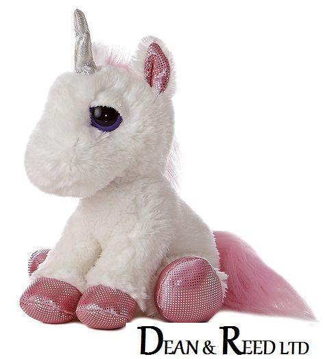 """*NEW* Dreamy eyes LARGE Mythical Unicorn 12"""" Cuddly Soft Toy Teddy by AURORA"""