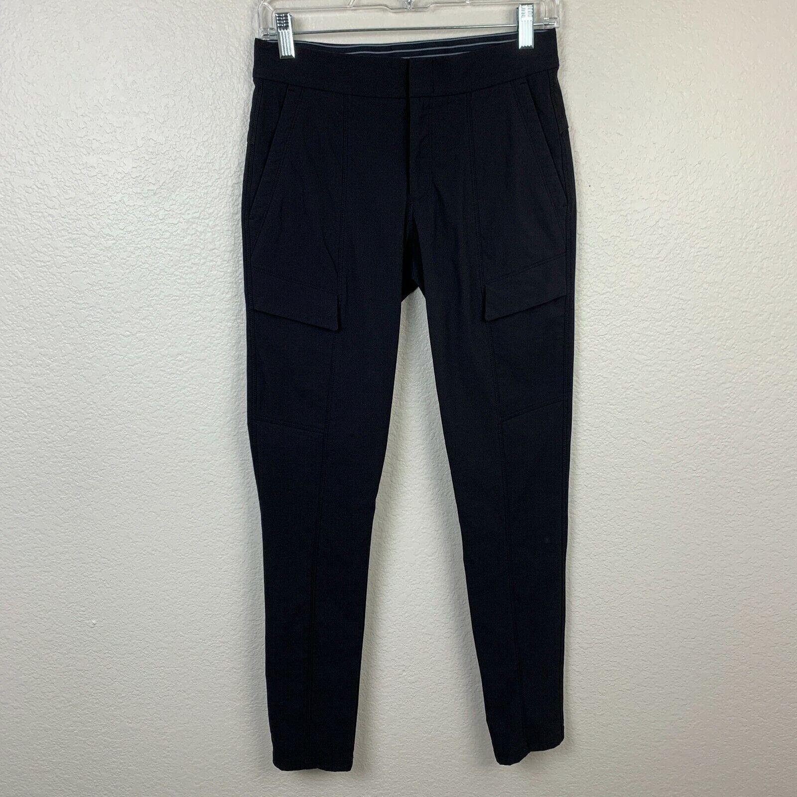 Athleta Wander Utility Pants Size 0 Black Style 870858 Zip Pockets Trail Office