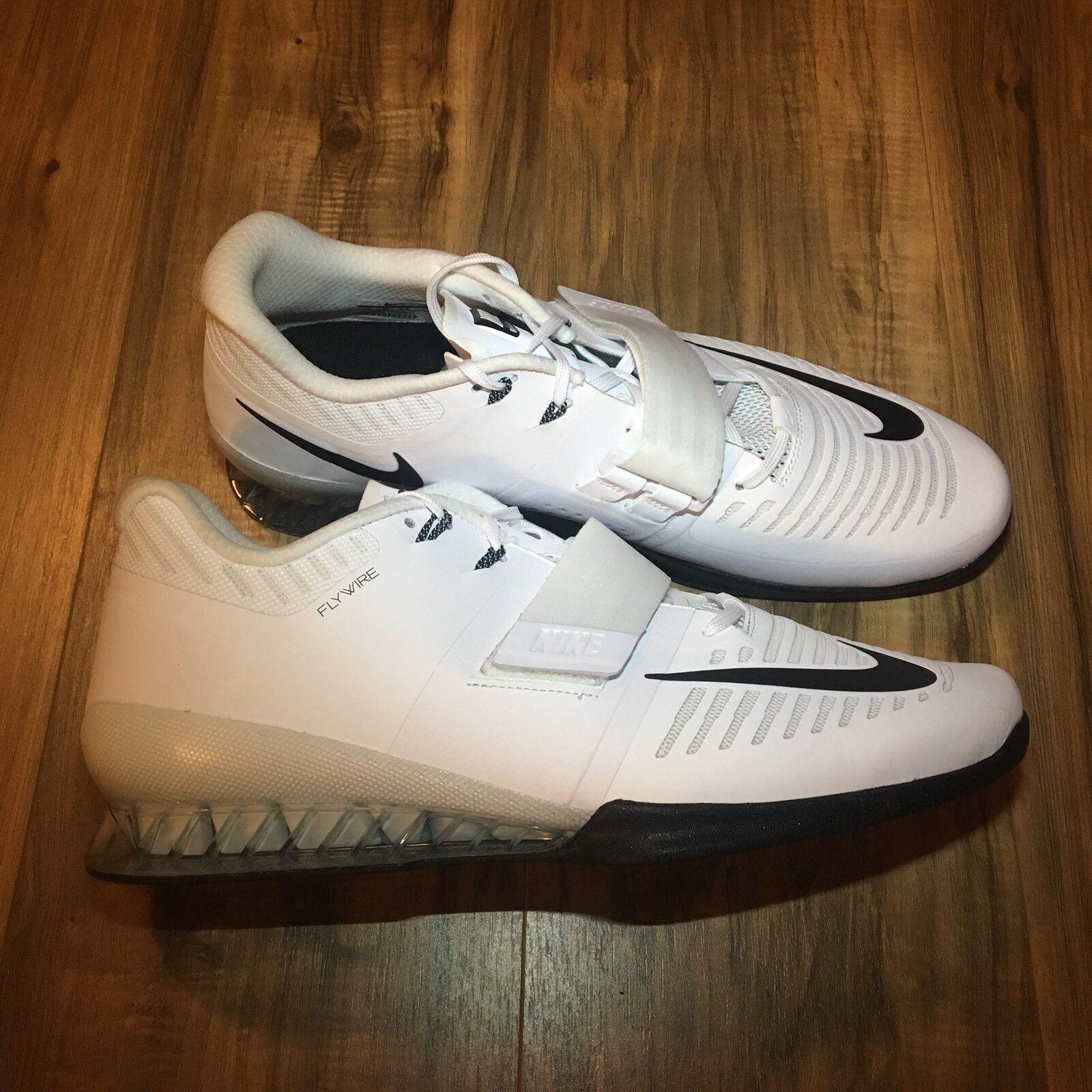Nike romaleos 3 sollevamento pesi crossfit scarpe bianco nero 852933-100 Uomo dimensioni 15 crossfit pesi 17f5db