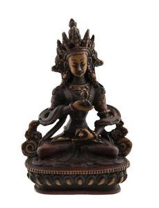 Soprammobile Tibetano Del Budda Vajrasattva IN di Resina - Bi Color - 14.5 CM