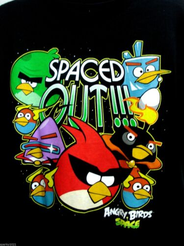 Angry Birds Space Black Spaced Out!! YL Boy/'s Tee T-Shirt Size