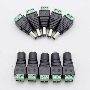 10x-12V-macho-hembra-2-1x5-5mm-DC-Power-Plug-Jack-adaptador-conector-para-GN