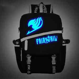 Anime Fairy Tail Japanese Luminous Satchel Backpack Schoolbag Shoulder Bag Gift