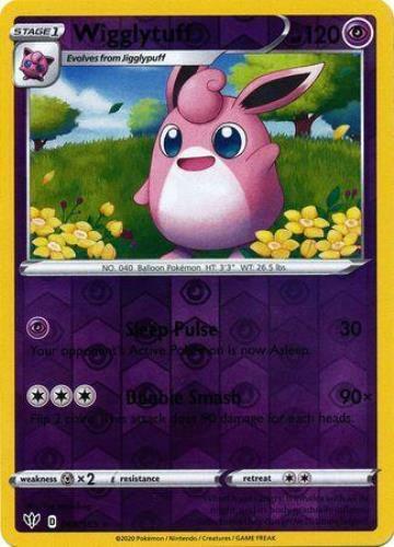 Pokemon Card Darkness Ablaze 68//189 068//189 Wigglytuff Reverse Holo Rare
