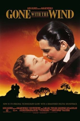 1939 Gone With The Wind Clark Gable Vivien Leigh Vintage-Style 12x18 Poster