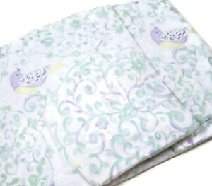 Pottery-Barn-Kids-Multi-Colors-Eliza-Bird-Floral-Vine-Twin-Duvet-Cover-New