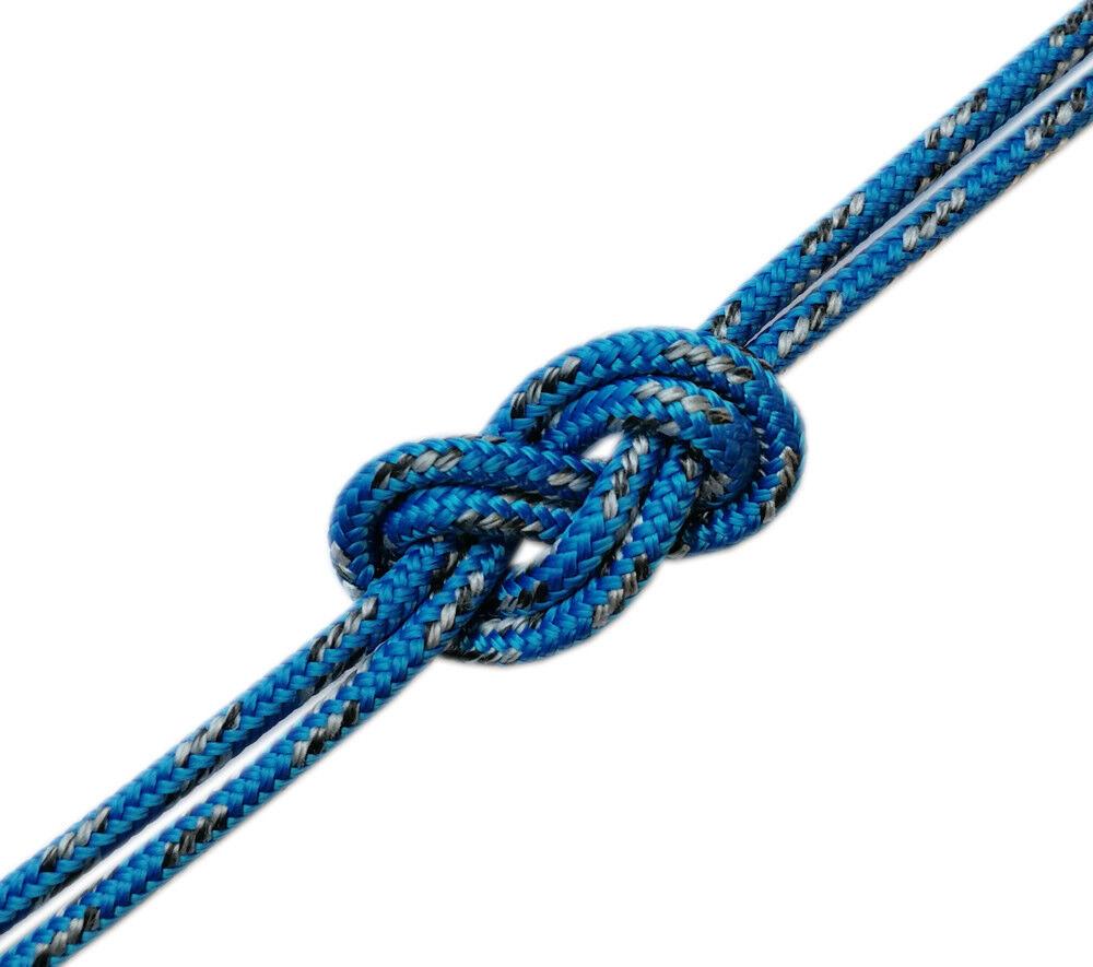 Spule 100 Meter Doppelt Zopf Dyneema DSK78 GLOBALTECH Ø8mm Ø8mm GLOBALTECH blau Marke Go e41659