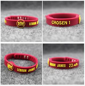 Image Is Loading Lebron James King Chosen Silicone Adjule Wristband Nba