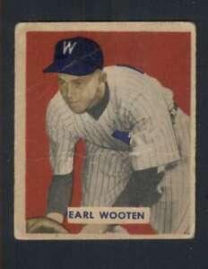1949-Bowman-189-Earl-Wooten-VG-VGEX-RC-Rookie-Senators-104430