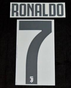separation shoes c1f52 f0423 Details about Juventus Ronaldo 7 Football Shirt Name/Number Set Home 2018/19