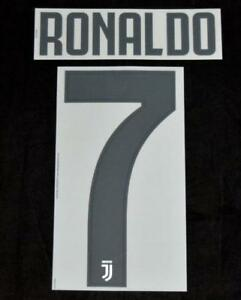 separation shoes e40ce 57b3f Details about Juventus Ronaldo 7 Football Shirt Name/Number Set Home 2018/19