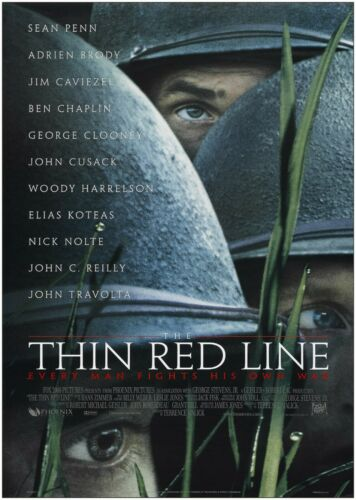 Thin Red Line Classic Large Movie Poster Art Print Maxi A1 A2 A3 A4