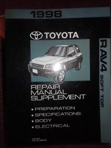 1998 toyota rav4 soft top service manual supplement rx726 ebay rh ebay com 1998 toyota rav4 service manual pdf 1998 toyota rav4 service manual free download
