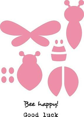 Marianne Design COLLECTABLES Die Cut  Emboss Stencil  BEE & LADY BIRD - COL1356