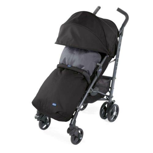 New Chicco Liteway pushchair Jet Black with bumper bar footmuff /& raincover 0m+