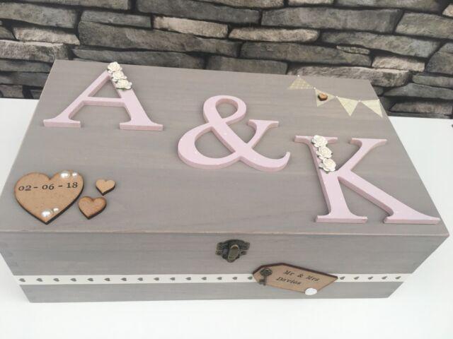 Personalised Luxury Large Wedding Wooden Memory/Keepsake Box Gift 👰