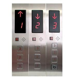 3-Floors Elevator Hall Call Display Button Plate Box DC24V