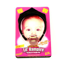 New Billy Bob Little Vampire Pacifier & Headband Set Halloween costume