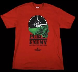 Supreme-Undercover-Shirt-Public-Enemy-Terrordome-Tee-Size-L-Red-Rap-NEW