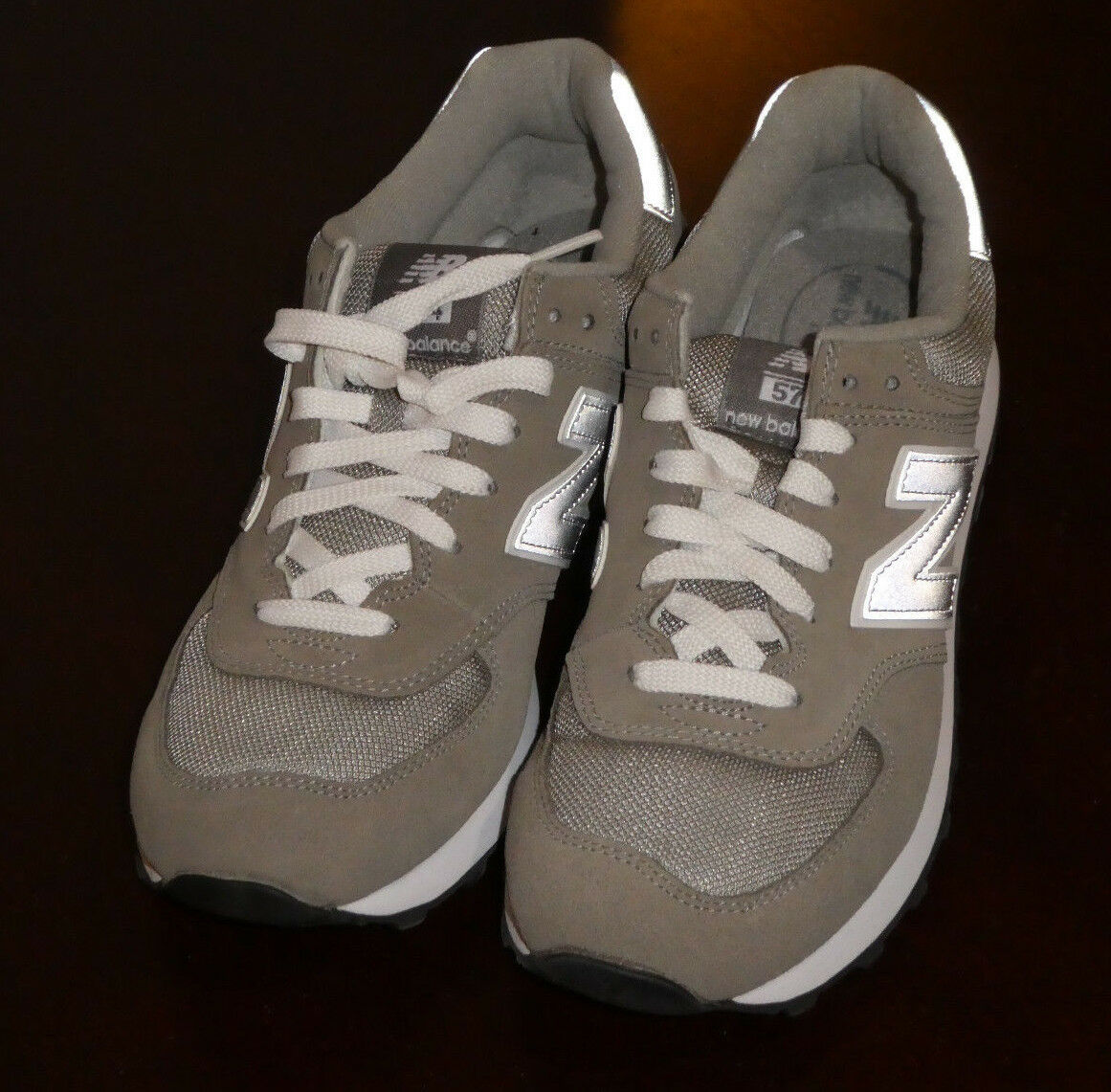 New Balance 574 shoes mens new sneakers ML574GS grey Extra WIDE EE 2E sz 8