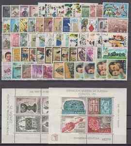 SPAIN-ANO-1975-NUEVO-MNH-ESPANA-EDIFIL-2232-2305-CON-HOJITAS