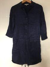 BB Dakota Blue Shirtdress Shirt Dress Silky Cupro Rayon S Small New NWOT